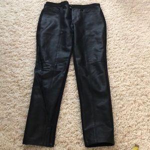 Banana republic *leather* front jeans see images